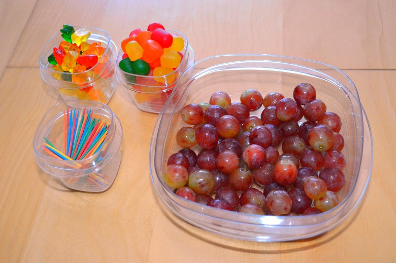 grapes and gummies are spatial reasoning activity materials