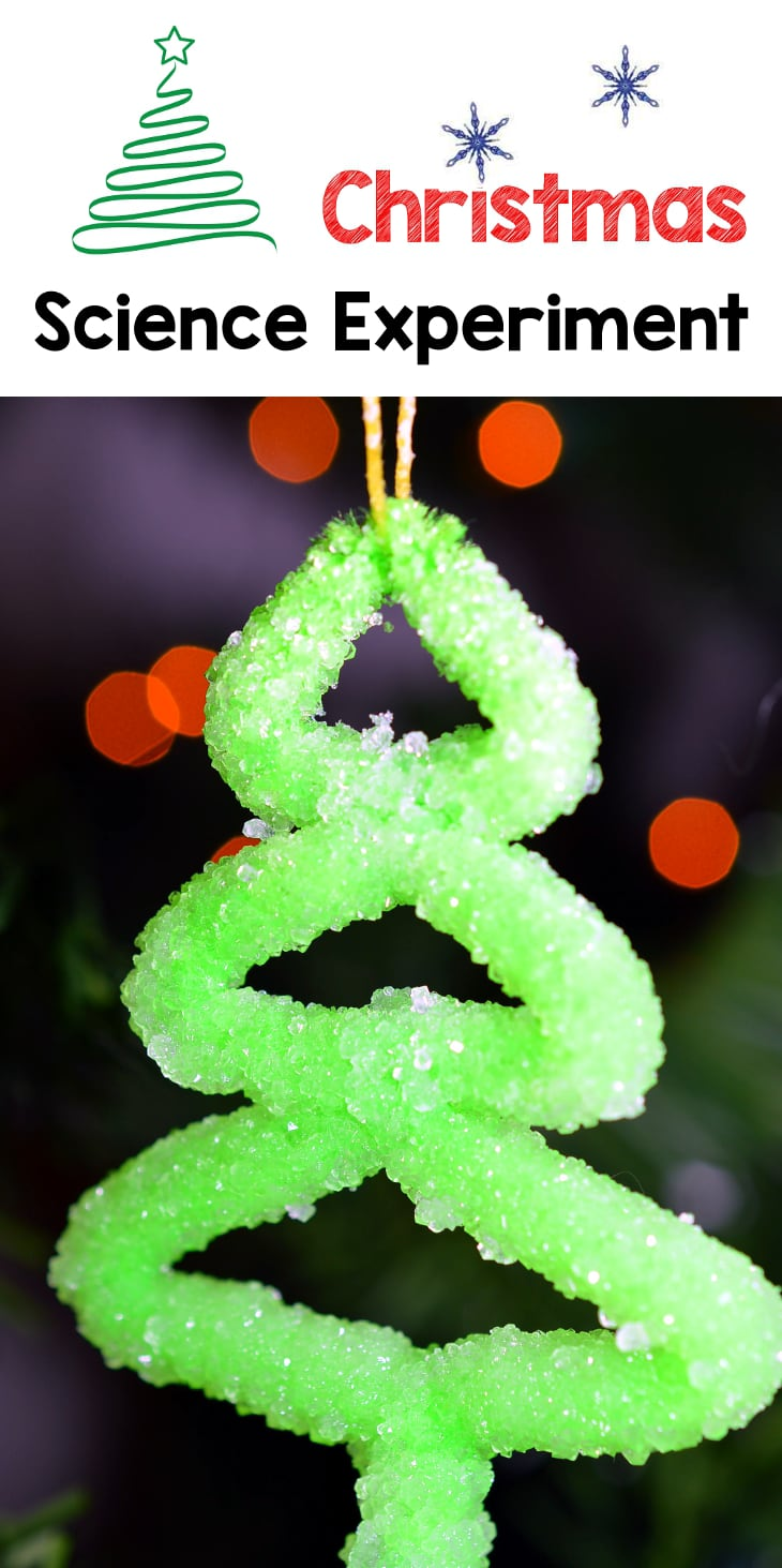 crystal christmas tree science