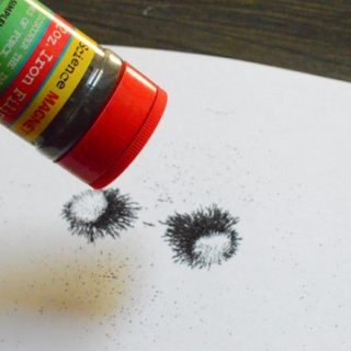shake iron filings onto a piece of paper to see magnetic force field