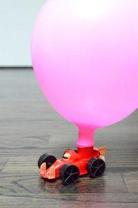 Balloon Rocket Car Race | STEM Experiment