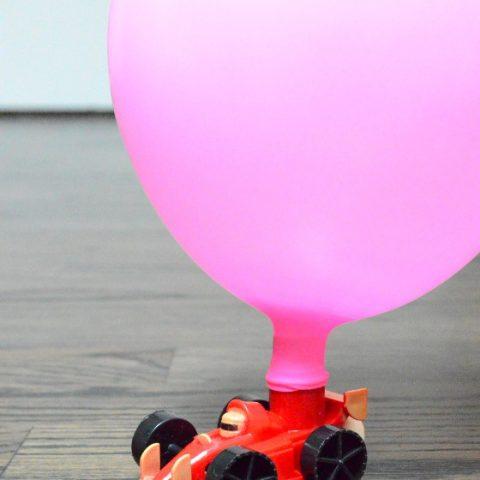 Balloon Rocket Car Race   STEM Experiment