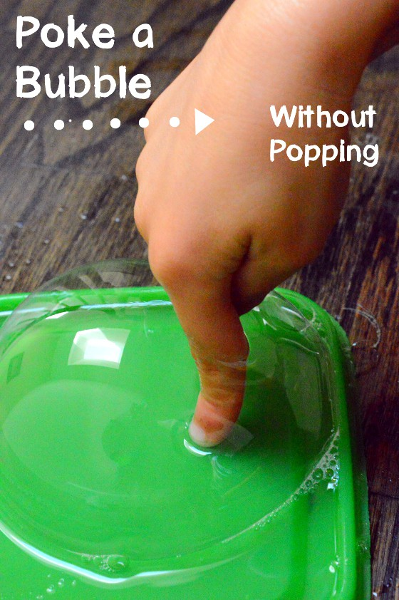 Poke A Bubble Experiment