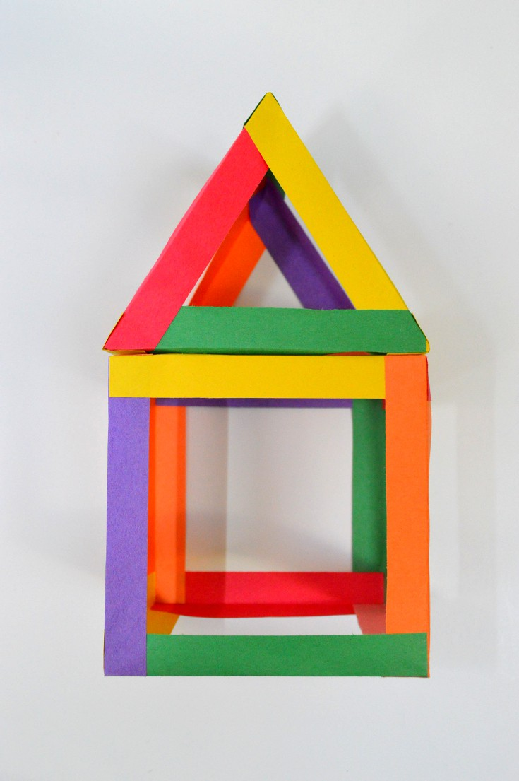 house built from color strips
