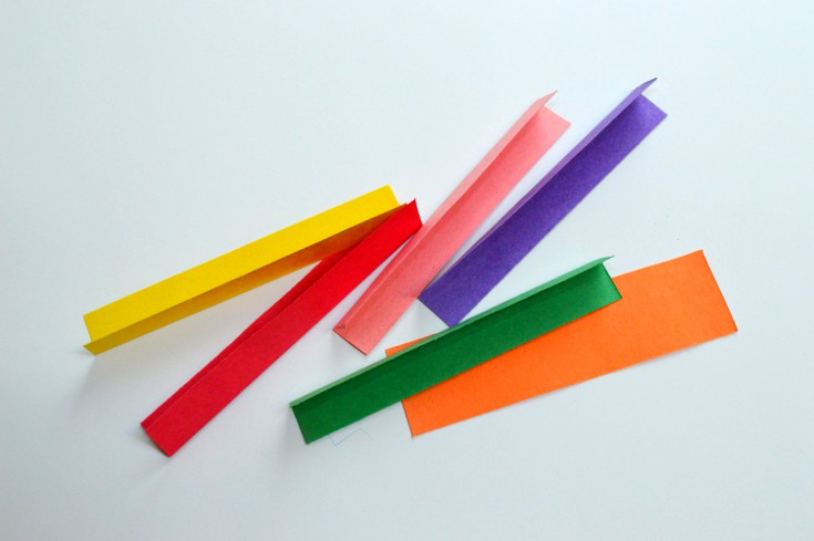 strips of color paper
