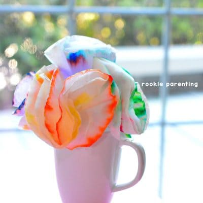 Chromatography | Coffee filter flower craft