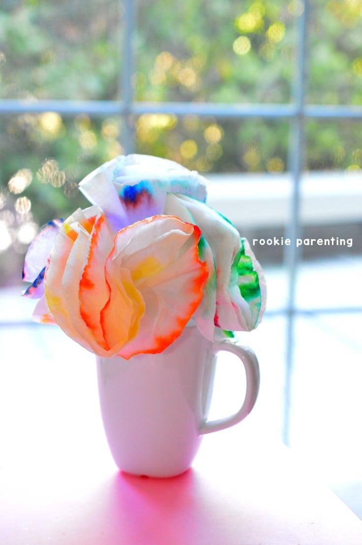 Chromatography | Coffee filter flower craft