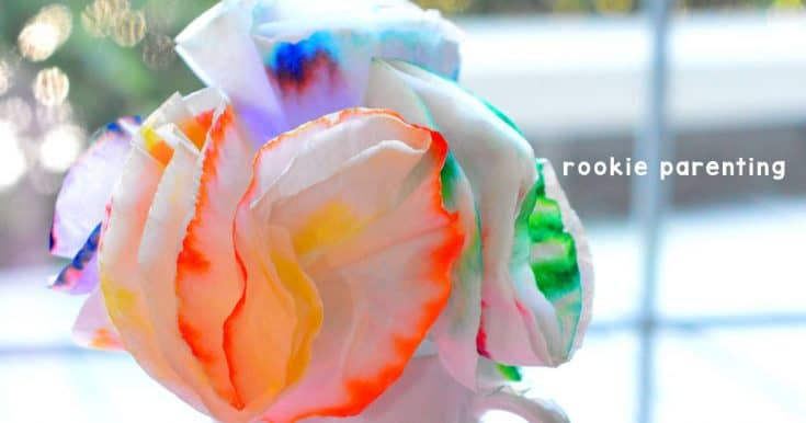 Chromatography | Coffee filter flower craft and science experiment