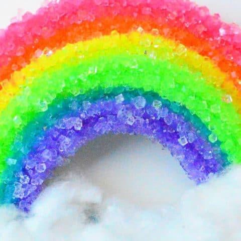 Make a crystal rainbow experiment