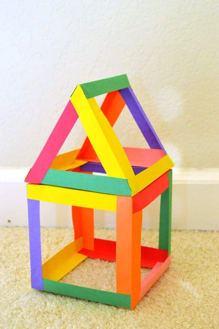 paper house geometry Activity