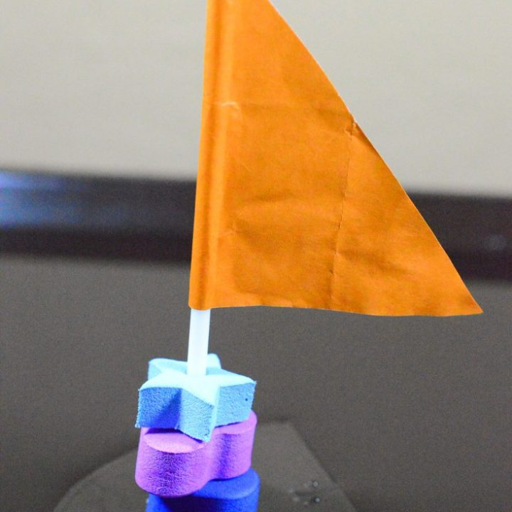 soap-powered boat science experiment