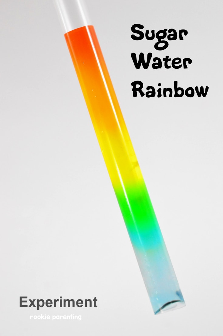 Make a rainbow using sugar and water | Science experiment