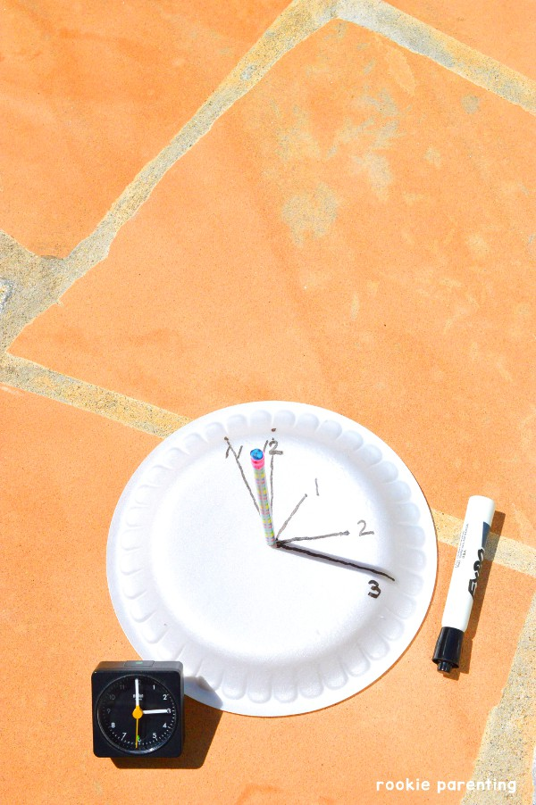 Build a homemade sundial - discover how to measure time using sunlight and the relative position of the sun.