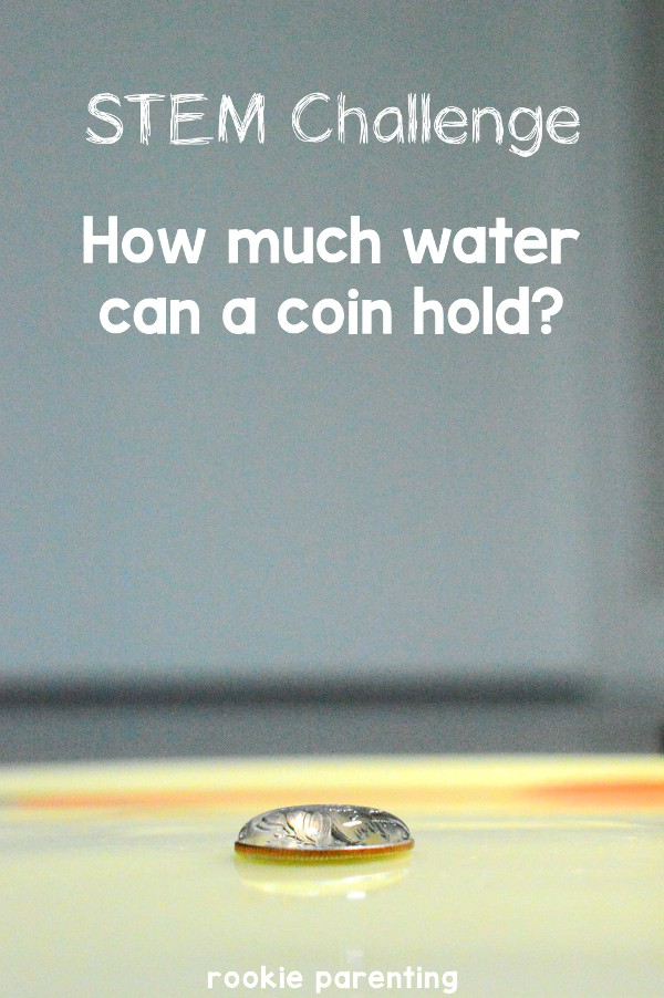 What is surface tension? See how many drops of water you can put on a coin.