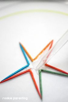 Toothpick Star Science Experiment