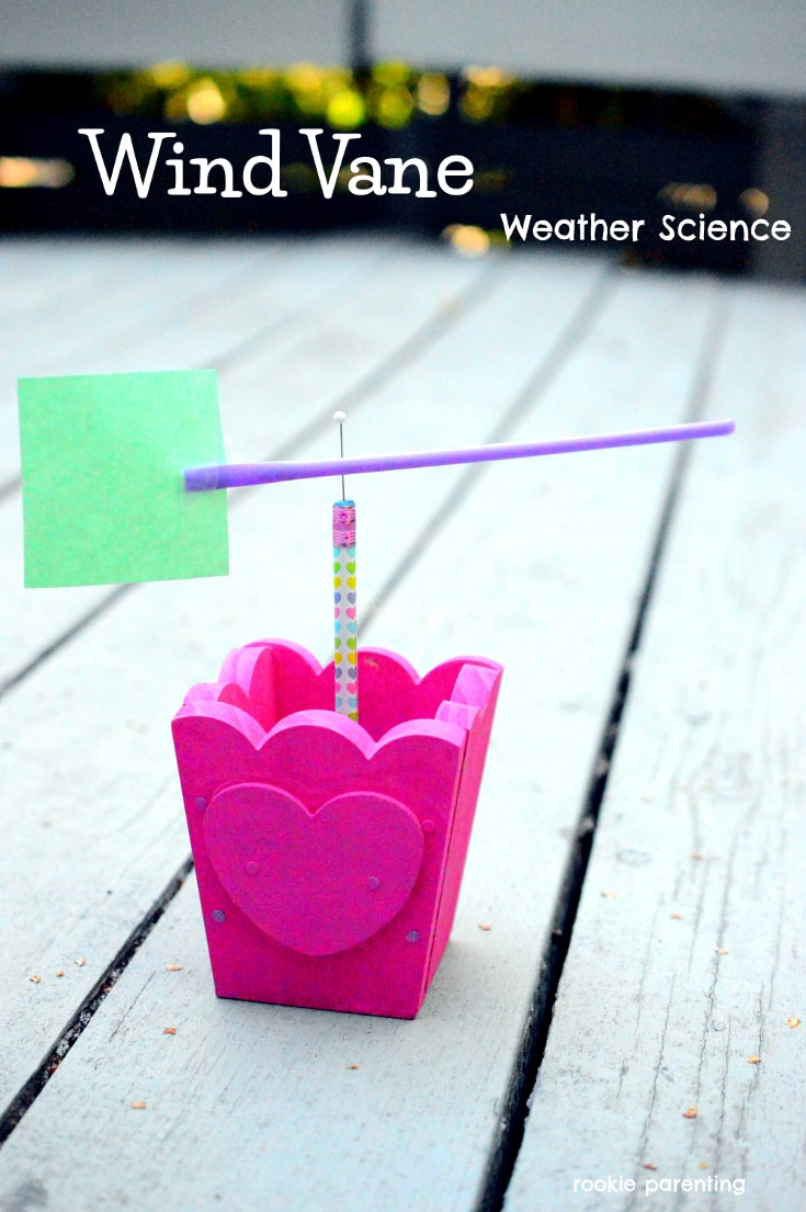 Make a homemade weather vane. This is an awesome science project and DIY craft for kids.